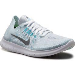 Buty NIKE - Free Rn Flyknit 2017 880844 012 Pure Platinum/Metallic Silver. Niebieskie buty do biegania damskie Nike, z materiału. Za 549,00 zł.