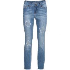 """Dżinsy SKINNY z kamieniami bonprix niebieski """"bleached"""". Niebieskie jeansy damskie skinny marki House, z jeansu. Za 89,99 zł."""