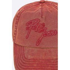 Pepe Jeans - Czapka Aperton. Różowe czapki z daszkiem męskie Pepe Jeans, z bawełny. W wyprzedaży za 59,90 zł.