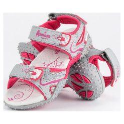 Dziewczęce sandały  AMERICAN CLUB odcienie szarości i srebra. Szare sandały dziewczęce American CLUB. Za 89,90 zł.