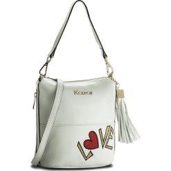 Torebka KAZAR - Tinsel 25801-15-01 White. Białe torebki klasyczne damskie Kazar, z napisami, ze skóry, zdobione. W wyprzedaży za 449,00 zł.