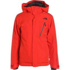 The North Face DESCENDIT Kurtka snowboardowa cent red. Czerwone kurtki narciarskie męskie The North Face, m, z materiału. W wyprzedaży za 879,20 zł.
