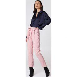 Spodnie z wysokim stanem: Glamorous Spodnie z paskiem Culotte – Pink