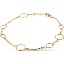 PROMOCJA Bransoletka Złota - złoto żółte 585. Żółte bransoletki damskie na nogę W.KRUK, złote. W wyprzedaży za 429,00 zł.