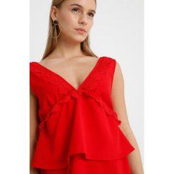 Sukienki hiszpanki: Missguided Petite PLUNGE DETAIL MINI DRESS Sukienka letnia red