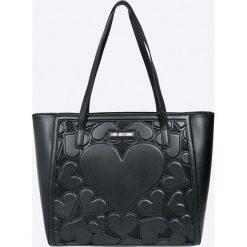 Love Moschino - Torebka. Szare shopper bag damskie Love Moschino, z materiału, do ręki, duże. Za 949,90 zł.