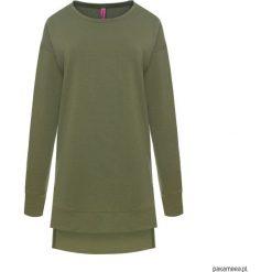 Bluza TUNIC z dłuższym tyłem zieleń khaki. Brązowe bluzy damskie marki Pakamera, z bawełny. Za 99,00 zł.