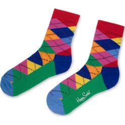 Skarpety Wysokie Unisex HAPPY SOCKS - ARY01-4001 Kolorowy. Różowe skarpetki damskie Happy Socks, w kolorowe wzory, z bawełny. Za 34,90 zł.