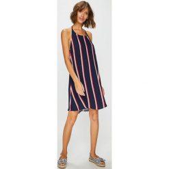 Answear - Sukienka. Szare sukienki mini ANSWEAR, na co dzień, l, z materiału, casualowe, z okrągłym kołnierzem, proste. W wyprzedaży za 69,90 zł.