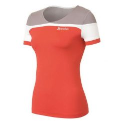 Odlo Koszulka damska GINA czerwono-szara r. L (221241/30030). Czerwone topy sportowe damskie marki Odlo, l. Za 75,02 zł.