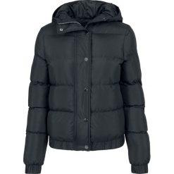 Bomberki damskie: Urban Classics Ladies Hooded Puffer Jacket Kurtka damska czarny