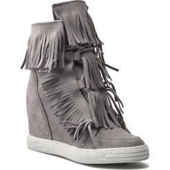 Sneakersy R.POLAŃSKI - 0818  Szary. Czarne sneakersy damskie marki R.Polański, ze skóry, na obcasie. W wyprzedaży za 259,00 zł.