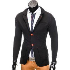 Swetry klasyczne męskie: SWETER MĘSKI E107 – CZARNY