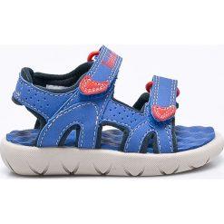 Timberland - Sandały dziecięce Perkins Row 2-Strap. Szare sandały chłopięce marki Timberland, z materiału. W wyprzedaży za 149,90 zł.