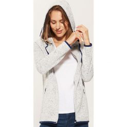 Rozpinana bluza z kapturem - Jasny szar. Czarne bluzy rozpinane damskie marki DOMYOS, xl, z bawełny, z kapturem. Za 89,99 zł.