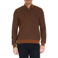 Golfy męskie: Sweter w kolorze karmelowym