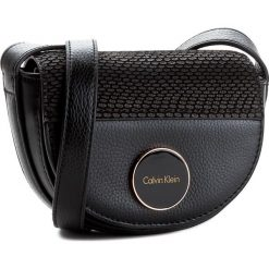 Listonoszki damskie: Torebka CALVIN KLEIN BLACK LABEL – Sily4 Mini Half Moon Crossbody K60K602503  001