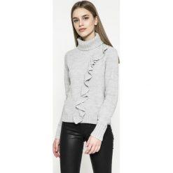 Only - Sweter Natali. Szare swetry klasyczne damskie marki ONLY, l, z dzianiny, z golfem. W wyprzedaży za 69,90 zł.