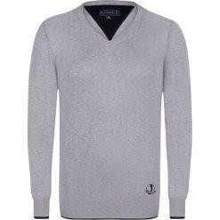 """Swetry klasyczne męskie: Sweter """"Casual"""" w kolorze szarym"""