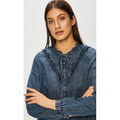 Only - Koszula Mardi. Szare koszule jeansowe damskie marki ONLY, casualowe, ze stójką, z długim rękawem. Za 149,90 zł.