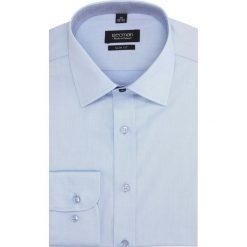 Koszula bexley 2791 długi rękaw slim fit niebieski. Niebieskie koszule męskie slim Recman, m, z długim rękawem. Za 139,00 zł.