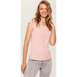 T-shirt basic - Różowy. Czerwone t-shirty damskie House, l. Za 17,99 zł.