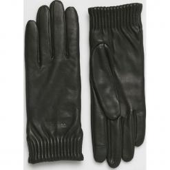 Calvin Klein - Rękawiczki skórzane. Czerwone rękawiczki damskie Calvin Klein, z elastanu. Za 349,90 zł.