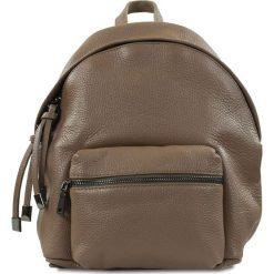 """Plecaki damskie: Skórzany plecak """"Brenda"""" w kolorze szarobrązowym – 24 x 29 x 6 cm"""