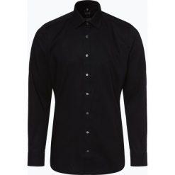 Olymp Level Five - Koszula męska łatwa w prasowaniu, czarny. Czarne koszule męskie na spinki marki OLYMP Level Five, m. Za 229,95 zł.