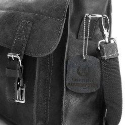 RANGER Skórzana torba Paolo Peruzzi Jasnobrązowa. Brązowe torby na ramię męskie marki Kazar, ze skóry, przez ramię, małe. Za 349,00 zł.