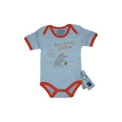 Ebi & Ebi  Fairtrade Body dziecięce pomarańcza - pomarańczowy. Niebieskie body niemowlęce marki Ebi & Ebi, z bawełny, z długim rękawem. Za 32,00 zł.