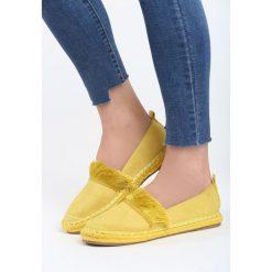 Żółte Espadryle Beautiful Surprise. Żółte espadryle damskie marki Born2be, moro, na płaskiej podeszwie. Za 59,99 zł.