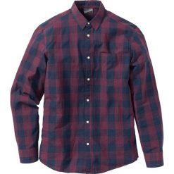 Koszula Regular Fit bonprix bordowo-ciemnoniebieski w kratę. Szare koszule męskie marki S.Oliver, l, z bawełny, z włoskim kołnierzykiem, z długim rękawem. Za 59,99 zł.