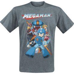 T-shirty męskie: Mega Man Characters - Battle T-Shirt odcienie ciemnoszarego