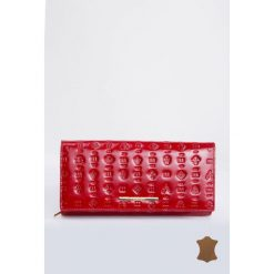 Podłużny portfel z tłoczonym wzorem. Szare portfele damskie Monnari, ze skóry, z tłoczeniem. Za 114,50 zł.