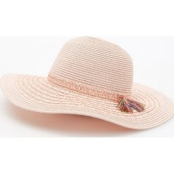 Kapelusze damskie: Pleciony kapelusz - Kremowy