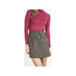 Spódnica Anabelle. Brązowe minispódniczki Wow fashion, z tkaniny, rozkloszowane. Za 219,00 zł.
