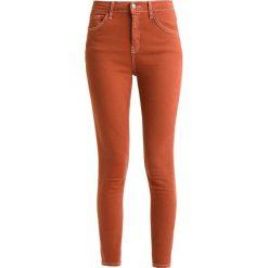 Topshop JAMIE Jeans Skinny Fit maroon. Czerwone jeansy damskie marki Topshop. Za 229,00 zł.