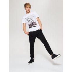 Spodnie męskie: Joggery z kieszeniami – Czarny