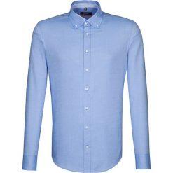 Koszule męskie na spinki: Koszula – Slim fit – w kolorze błękitnym