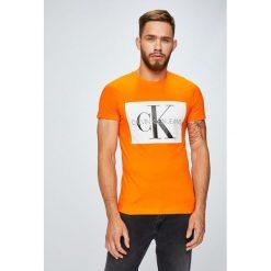 Calvin Klein Jeans - T-shirt/polo J30J307843. Szare koszulki polo marki Calvin Klein Jeans, l, z nadrukiem, z bawełny. Za 199,90 zł.