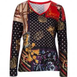 Koszulka w kolorze czarnym ze wzorem. Czarne bluzki damskie 101 idées, z okrągłym kołnierzem, z długim rękawem. W wyprzedaży za 68,95 zł.