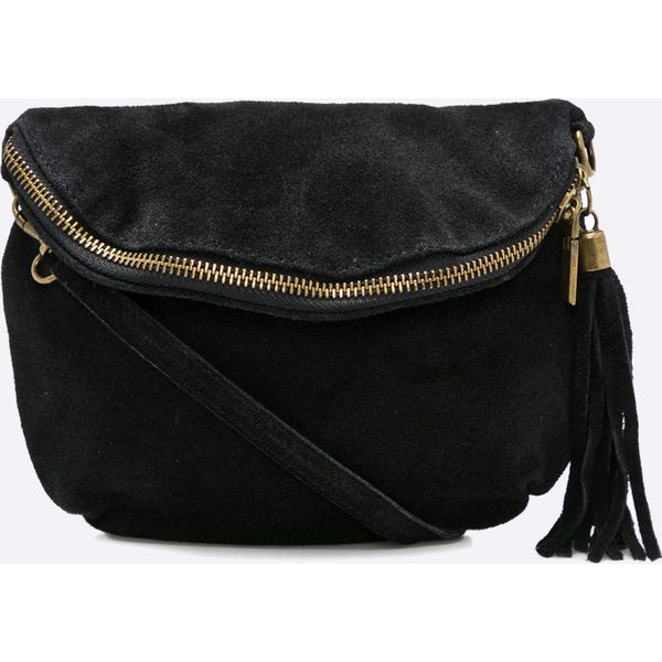 bf057c2d0e20c Answear - Torebka skórzana Wild Nature - Czarne torebki klasyczne ...