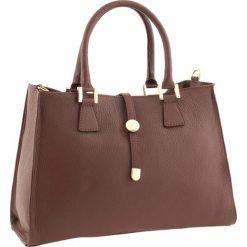 Torebki klasyczne damskie: Skórzana torebka w kolorze brązowym – 35 x 25 x 11 cm