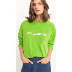 Bawełniana bluza z okrągłym dekoltem. Szare bluzy damskie marki La Redoute Collections, m, z bawełny, z kapturem. Za 136,50 zł.