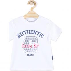 Koszulka. Białe t-shirty chłopięce z długim rękawem REBELS, z aplikacjami, z bawełny. Za 24,90 zł.