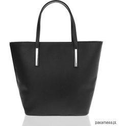 Shopper bag damskie: Torebka damska BRODRENE MOLDE Czarna SHOPPER