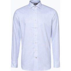 OLYMP SIGNATURE - Koszula męska łatwa w prasowaniu – Savio, niebieski. Niebieskie koszule męskie non-iron marki OLYMP SIGNATURE, m, w kratkę, z klasycznym kołnierzykiem. Za 449,95 zł.