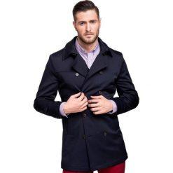 Płaszcz CARLOS PSGS000044. Brązowe płaszcze na zamek męskie Giacomo Conti, m, w paski, z tkaniny, eleganckie. Za 899,00 zł.