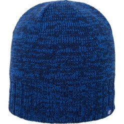 Czapka męska CAM008z - granatowy ciemny - 4F. Niebieskie czapki męskie 4f, na jesień, z poliesteru. Za 39,99 zł.